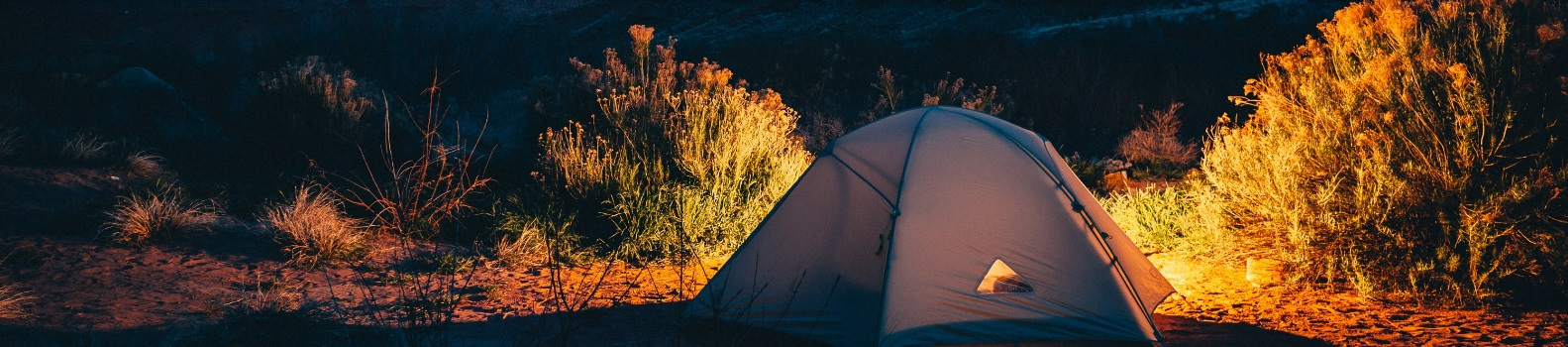 Tent between the mountains